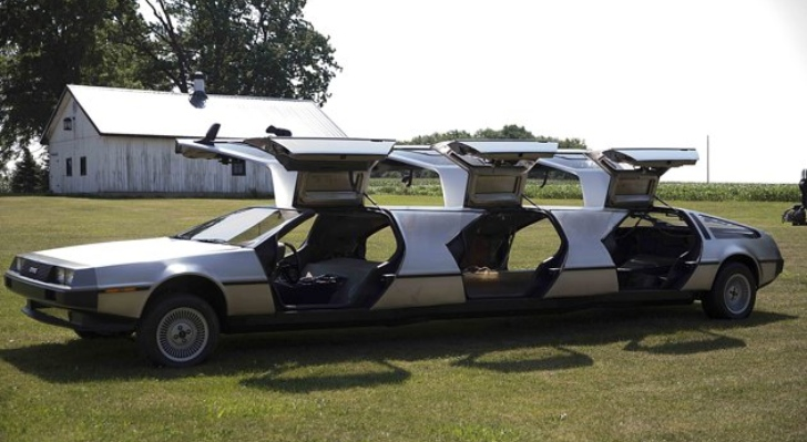 Social Media Time Travelers - Delorean Limo